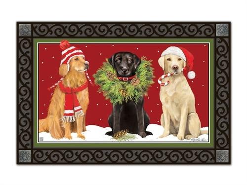 """Santa's Helper MatMates Doormat - 18"""" x 30"""""""