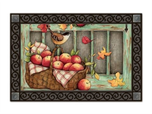 "Screen Door Wreath MatMates Doormat - 18"" x 30"""