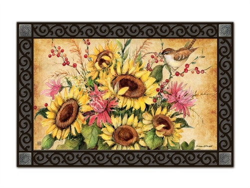"""Sunflower Mix MatMates Doormat - 18"""" x 30"""""""