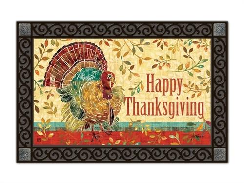 "Thanksgiving Turkey MatMates Doormat - 18"" x 30"""