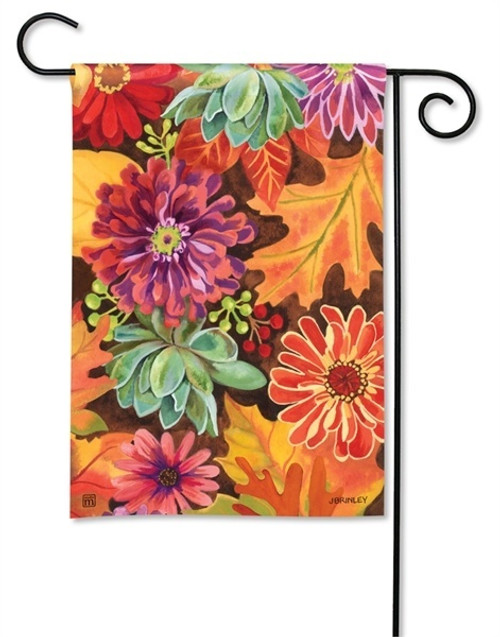 """Autumn Jazz Fall Garden Flag - 12.5"""" x 18"""" - BreezeArt"""