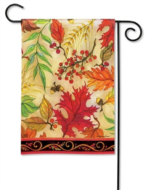 "Blaze of Glory Fall Garden Flag - 12.5"" x 18"" - BreezeArt"