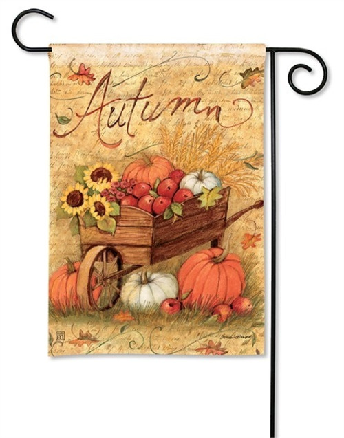 "Autumn Cart Fall Garden Flag - 12.5"" x 18"" - BreezeArt"
