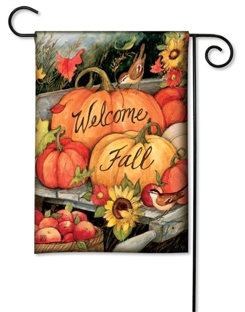 "Welcome Fall Pumpkins Garden Flag - 12.5"" x 18"" - BreezeArt"
