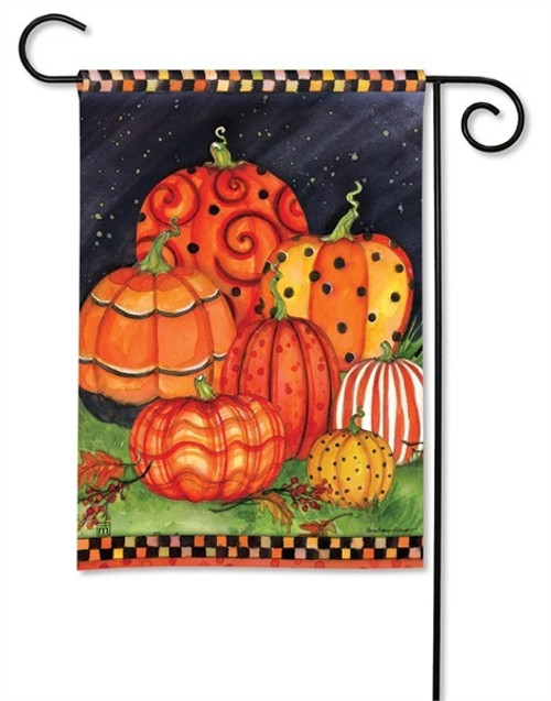 "Painted Pumpkins Fall Garden Flag - 12.5"" x 18"" - BreezeArt"