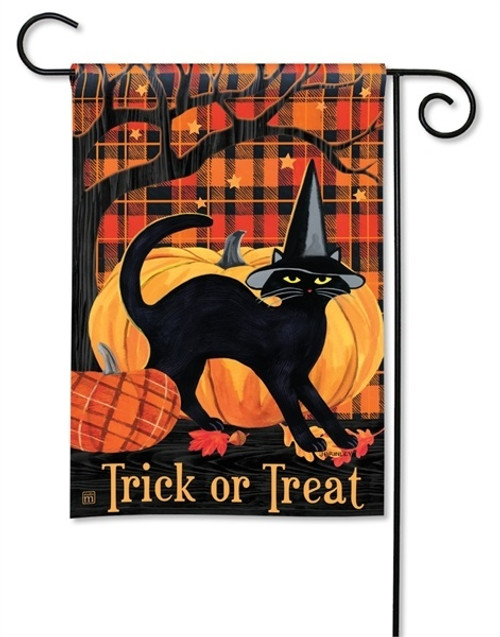 "Witch Hat Cat Halloween Garden Flag - 12.5"" x 18"" - BreezeArt"