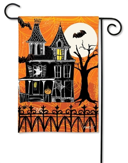 "Haunted House Halloween Garden Flag - 12.5"" x 18"" - BreezeArt"