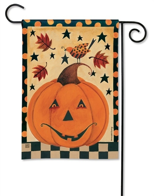 "Country Pumpkin Halloween Garden Flag - 12.5"" x 18"" - BreezeArt"