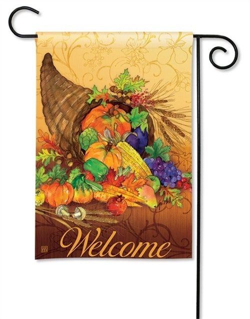 "Bountiful Harvest Fall Garden Flag - 12.5"" x 18"" - BreezeArt"
