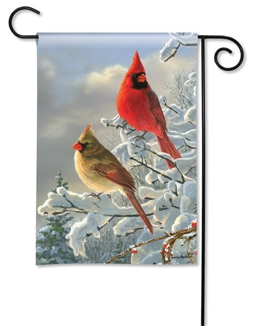 "Winter Cardinals Garden Flag - 12.5"" x 18"" - BreezeArt"