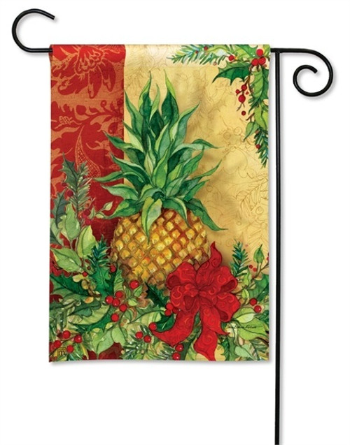 "Christmas Pineapple Garden Flag - 12.5"" x 18"" - BreezeArt"