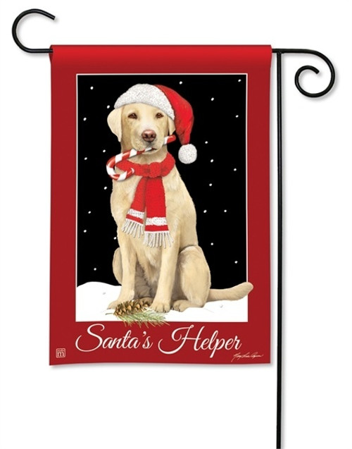 "Santa's Helper Christmas Garden Flag - 12.5"" x 18"" - BreezeArt"