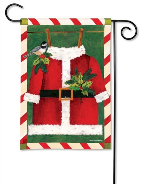 "Santa Suit Christmas Garden Flag - 12.5"" x 18"" - BreezeArt"