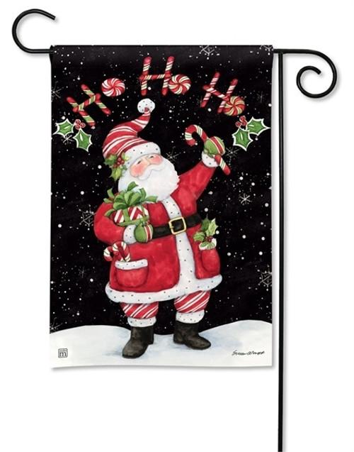 "Candy Cane Santa Christmas Garden Flag - 12.5"" x 18"" - BreezeArt"