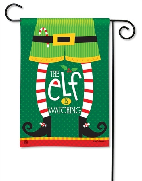 "Elf is Watching Christmas Garden Flag - 12.5"" x 18"" - BreezeArt"