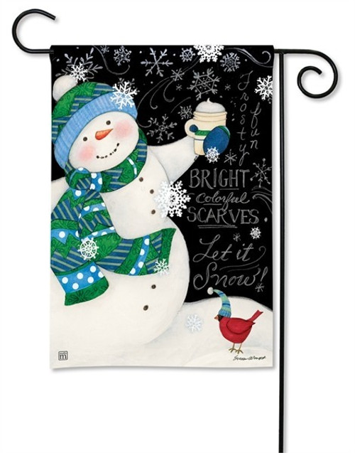 "Frosty Fun Winter Garden Flag - 12.5"" x 18"" - BreezeArt"