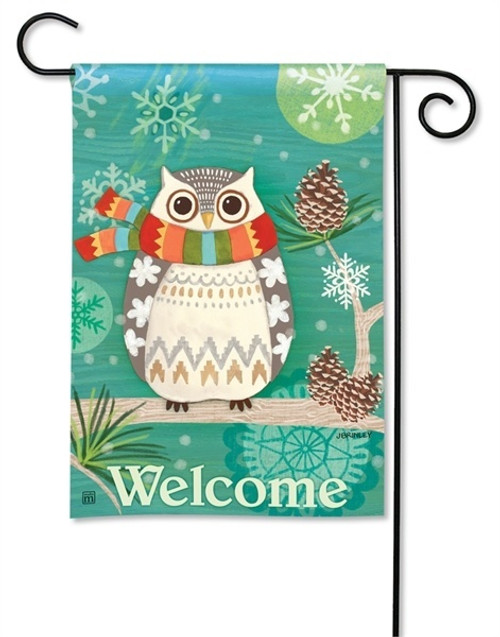 Winter Garden Flags Colorful Decorative Outdoor Yard Flags
