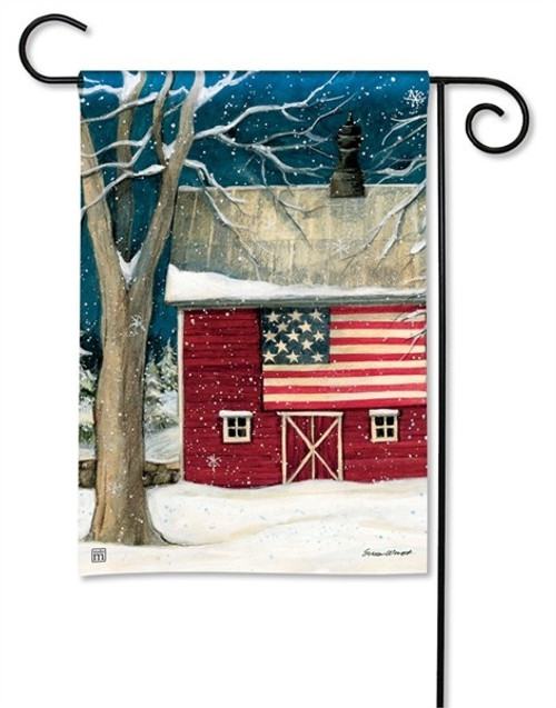 "Winter Barn Garden Flag - 12.5"" x 18"" - BreezeArt"