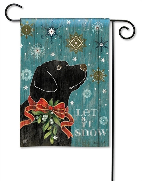 "Let it Snow Lab Winter Garden Flag - 12.5"" x 18"" - BreezeArt"