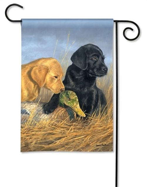 "Lab Puppies Garden Flag - 12.5"" x 18"" - BreezeArt"
