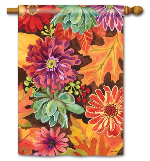 "Autumn Jazz Fall House Flag - 28"" x 40"" - BreezeArt"