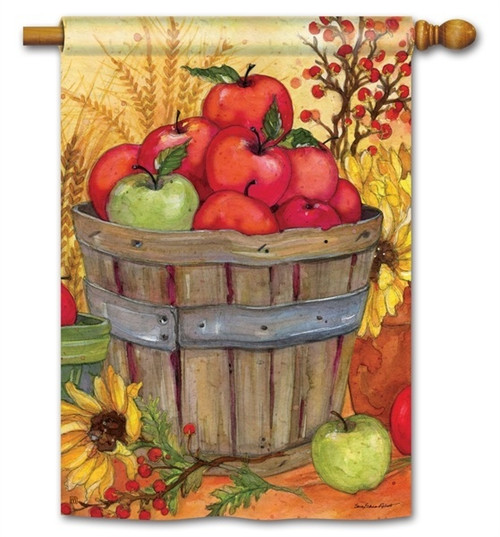 "Bushel of Apples House Flag - 28"" x 40"" - BreezeArt"