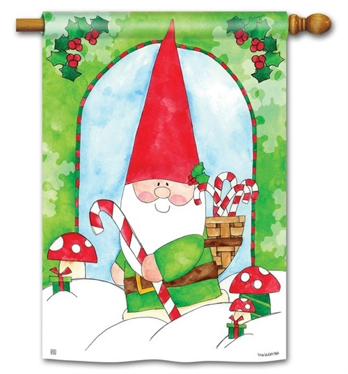 "Gnome for the Holidays House Flag - 28"" x 40"" - BreezeArt"