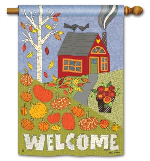 "Pumpkin Patch Fall House Flag - 28"" x 40"" - BreezeArt"