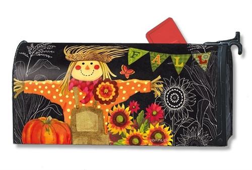 Burlap Scarecrow Magnetic Mailbox Cover