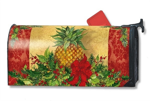 Christmas Pineapple Magnetic Mailbox Cover