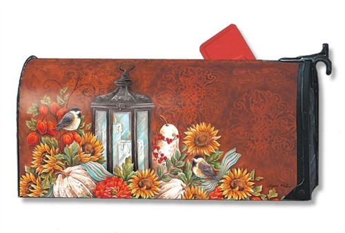 Fall Lantern Magnetic Mailbox Cover