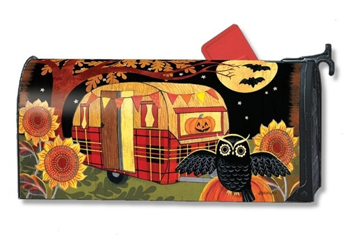 Halloween Camper Magnetic Mailbox Cover