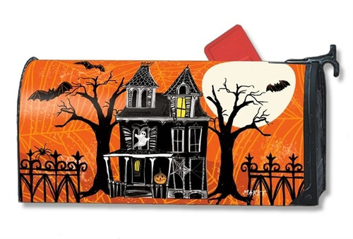 Haunted House Magnetic Mailbox Cover