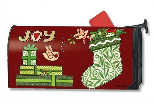 Joy Stocking Magnetic Mailbox Cover
