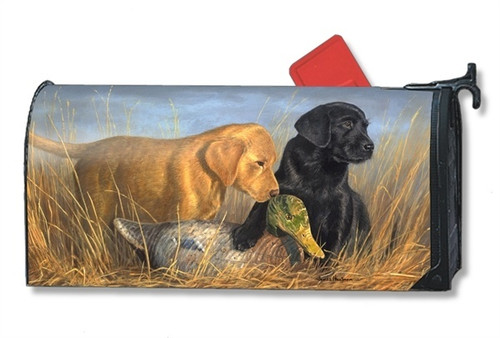 Lab Puppies Magnetic Mailbox Cover