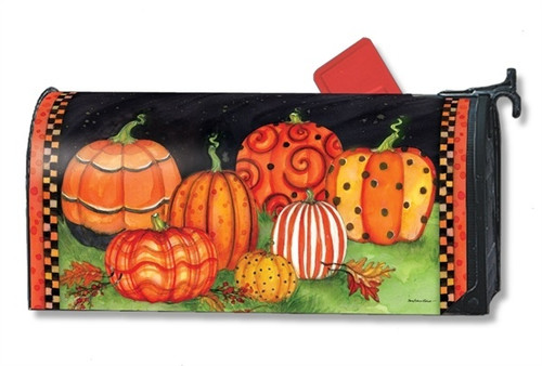 Painted Pumpkins Magnetic Mailbox Cover