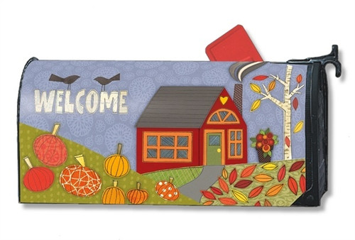 Pumpkin Patch Magnetic Mailbox Cover
