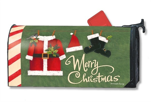 Santa Suit Magnetic Mailbox Cover