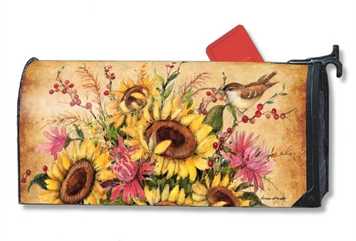 Sunflower Mix Magnetic Mailbox Cover