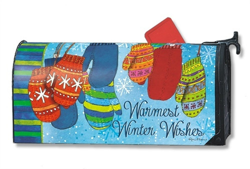 Warm Woolen Mittens Magnetic Mailbox Cover