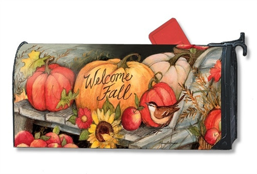 Welcome Fall Pumpkins Magnetic Mailbox Cover