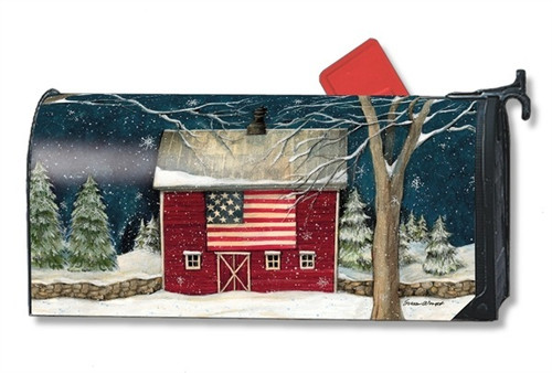 Winter Barn Magnetic Mailbox Cover