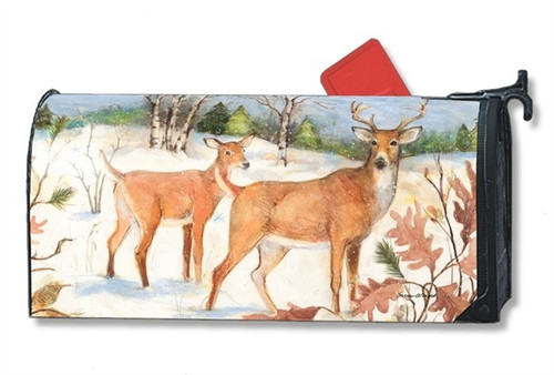 Winter Deer Magnetic Mailbox Cover