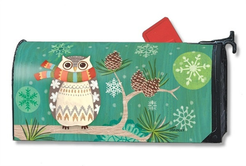 Winter Owl Magnetic Mailbox Cover