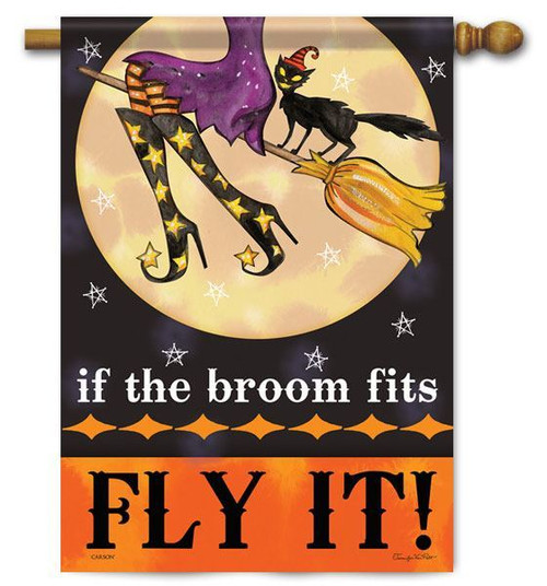 "Fly It Halloween House Flag - 28"" x 40"" - 2 Sided Message"