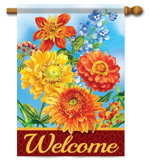 "Colors Of Autumn Fall House Flag - 28"" x 40"" - 2 Sided Message"