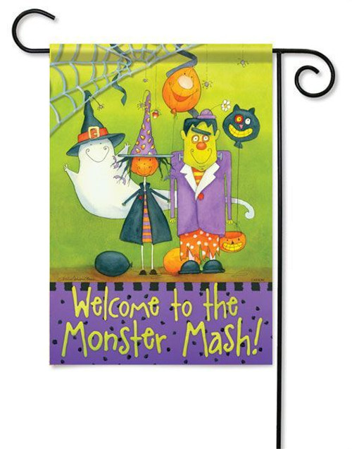 "Monster Mash Halloween Garden Flag - 13"" x 18"" - 2 Sided Message"