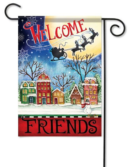 "Christmas Village Garden Flag - 13"" x 18"" - 2 Sided Message"