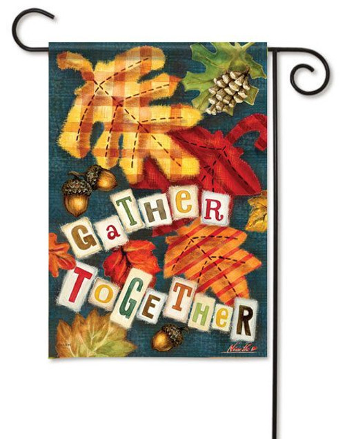 "Gather Together Garden Flag - 13"" x 18"" - 2 Sided Message"