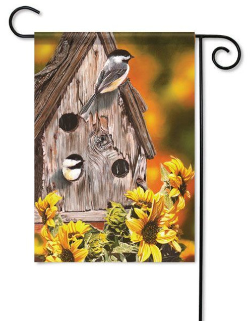 "Autumn Chickadees Fall Garden Flag - 13"" x 18"""